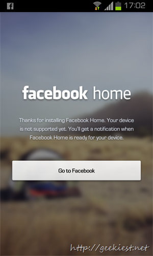 Facebook home for all devices and all countries    1