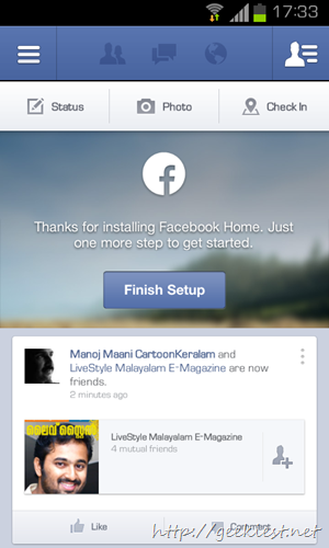 Facebook home for all devices and all countries    2