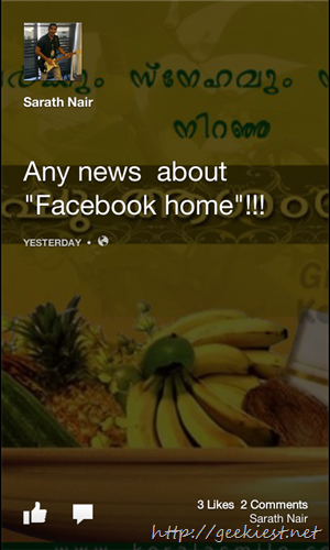 Facebook home for all devices and all countries    6