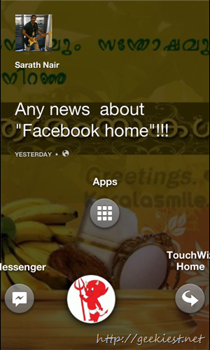 Facebook home for all devices and all countries    8