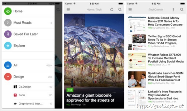 Feedly 17 for iPhone