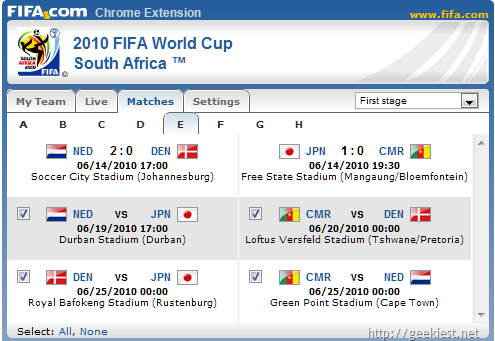 Fifa-worldcup-Chrome-extesion-all-matches