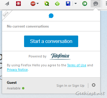 Firefox Hello - Start a Conversation