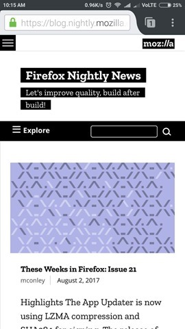 Firefox UI Android tab
