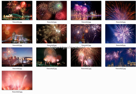 Fireworks wallpapers from Microsoft