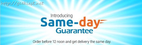 Flipkart introduce same day delivery