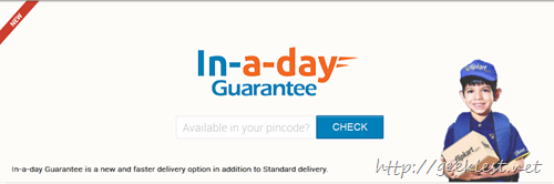 Flipkart offers in a day delivery