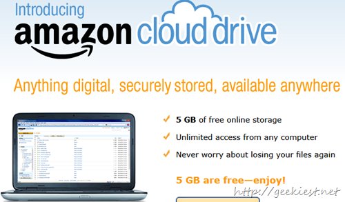 Free 5GB Online storage Space from Amazon - Amazon Cloud Drive