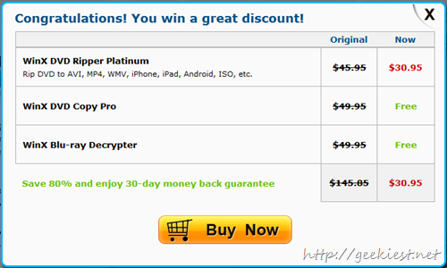 Free WinX DVD Copy Pro and WinX Blu-ray Decrypter