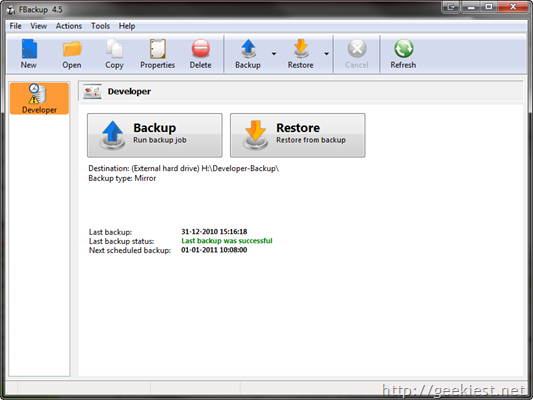 Free backup Software FBackup