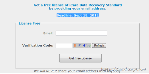 Free iCare Data Recovery Standard Edition