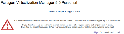 Free Paragon Virtualization Manager 9.5 Personal