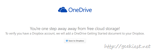 Free 100GB OneDrive storage space for dropbox users
