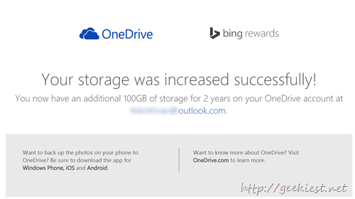 Free 10GBB space for OneDrive