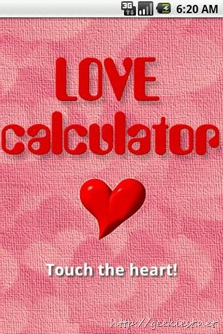 Free Android Applications and for this Valentines Day - Love Calculator