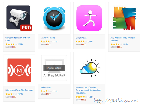 Free Android Apps on Amazon App store