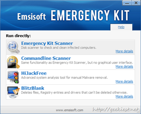 Free Emsisoft Emergency Kit