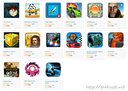 Free Games on Amazon App store time limited