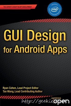 Free Kindle Book GUI Design for Android Apps worth USD 30