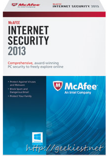 Free McAfee Internet Security 2013  1 year subscription[10]