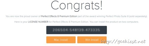 Free PERFECT EFFECTS 8  Premium Edition FULL version license