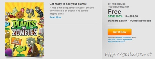Free Plants vs. Zombies Game of the Year Edition