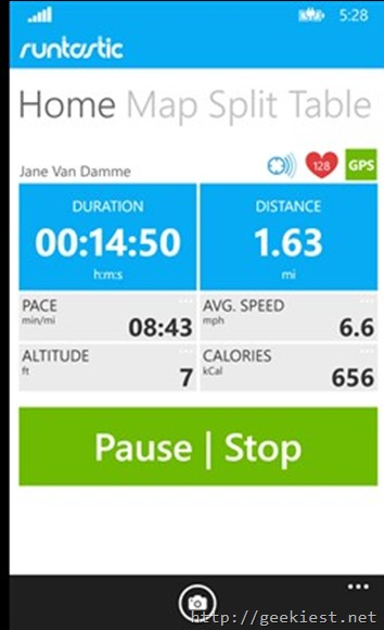 Free Runtastic PRO for Windows Phones
