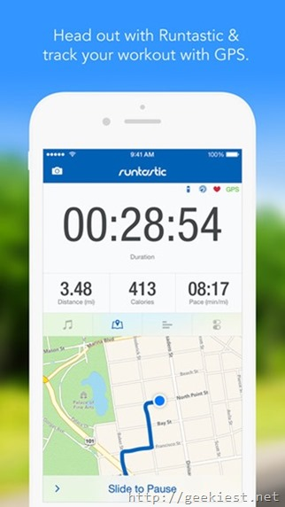 Free Runtastic PRO for iOS-iPhone