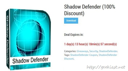 Free Shadow defender giveaway