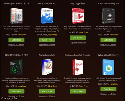Free Software worth USD 390