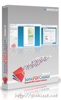 Free Sonic PDF creator full version License for all