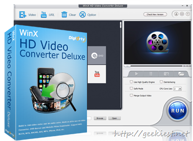 Free WinX HD Video Converter Deluxe full version license giveaway