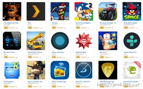 Free android games and apps