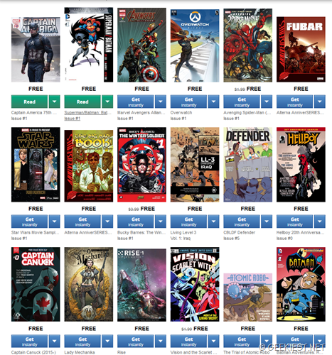 Free comics from Amazon
