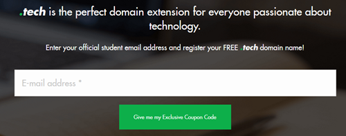Free dot tech domain name