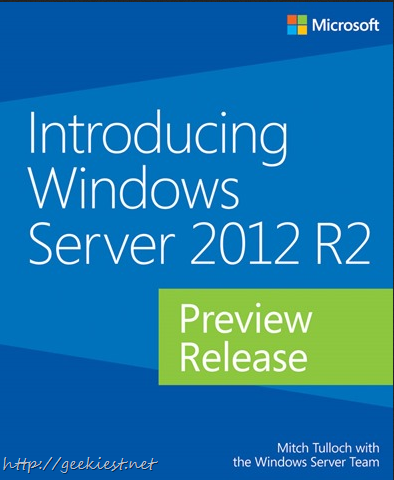 Free eBook - Introducing Windows Server 2012 R2 Preview Release
