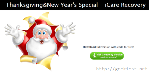 Free iCare Data Recovery Pro Giveaway