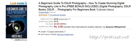 Free kindle book on photography