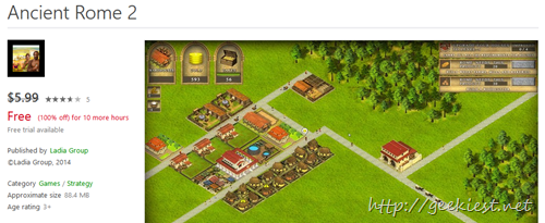 Free windows 8 Game - Ancient Rome 2 Game