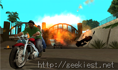 GTA San Andreas Carl Johnson and Big Smoke pursued by Russians