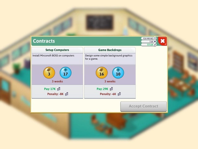 Game Dev Tycoon iOS Contracts
