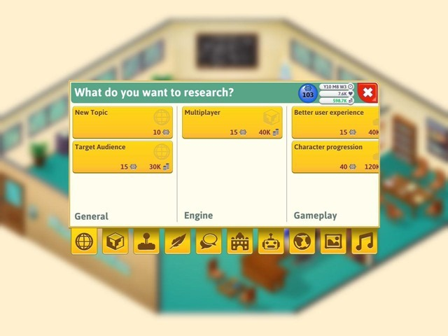 Game Dev Tycoon iOS research 2