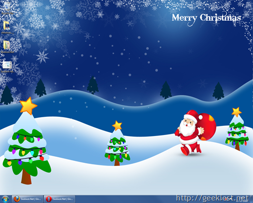 Geekiest Merry Christams windows 7 theme