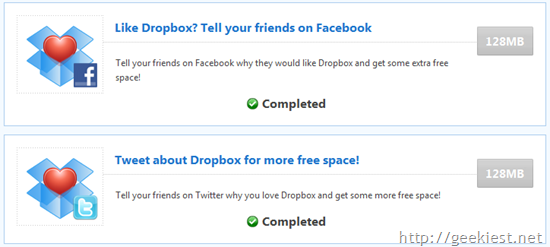 Get 1 Gb Free Extra storage for your Dropbox Account[4]