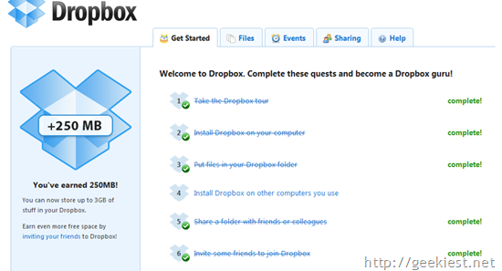 Get 1 Gb Free Extra storage for your Dropbox Account[6]