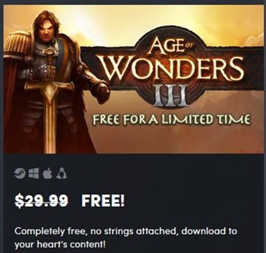 Get Age of Wonders III For FREE–Limited time