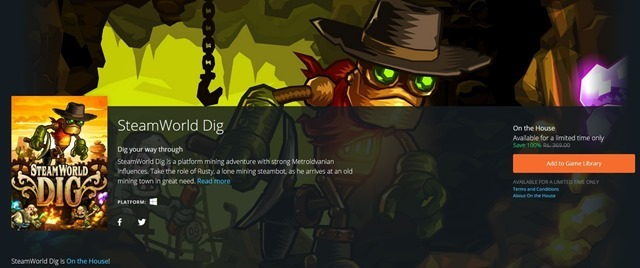 Get SteamWorld Dig for free from Origin