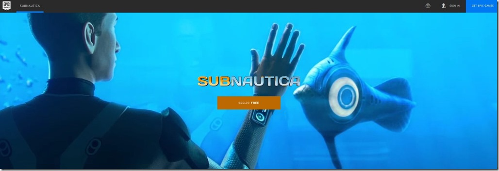 Get Subnautica free from Epic Games 4