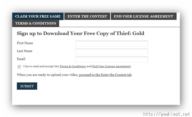 Get a free coupon for Thief Gold
