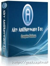 Giveaway - Airy AntiSpyware Pro full version license worth USD 69